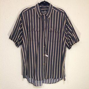 Dockers Striped s/s dress shirt, sz L (117)